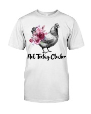 Chicken floral not today clucker Premium Fit Mens Tee front