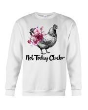 Chicken floral not today clucker Crewneck Sweatshirt thumbnail