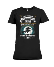 I'm a veteran I say happy halloween god bless Premium Fit Ladies Tee tile