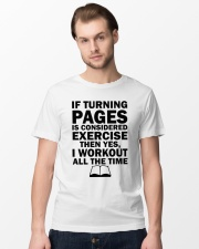 If turning pages is considered exercise  Classic T-Shirt lifestyle-mens-crewneck-front-15