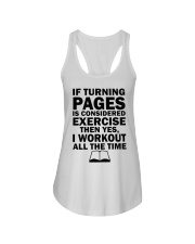 If turning pages is considered exercise  Ladies Flowy Tank thumbnail