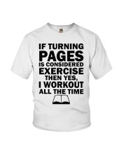 If turning pages is considered exercise  Youth T-Shirt thumbnail