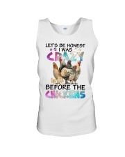 Let's be honest i was crazy before the chickens Unisex Tank thumbnail