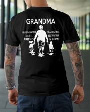 Granddaughter best friend grandson best partner Premium Fit Mens Tee lifestyle-mens-crewneck-back-3
