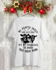 Cows my people skills are just fine it's my tolera Classic T-Shirt lifestyle-holiday-crewneck-front-2
