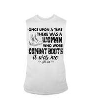 Once upon a time there was a woman who wore combat Sleeveless Tee thumbnail