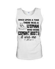 Once upon a time there was a woman who wore combat Unisex Tank thumbnail