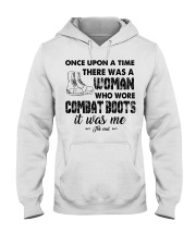 Once upon a time there was a woman who wore combat Hooded Sweatshirt thumbnail