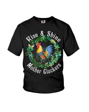 Chicken rise and shine mother cluckers Youth T-Shirt thumbnail