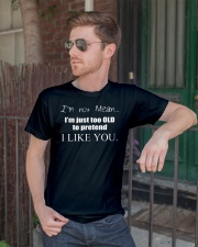 I m not mean im just too old to pretend i like yo Premium Fit Mens Tee lifestyle-mens-crewneck-front-2