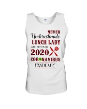 Never underestimate lunch lady who survived 2020 Unisex Tank thumbnail