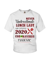 Never underestimate lunch lady who survived 2020 Youth T-Shirt thumbnail