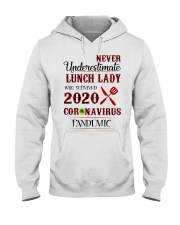 Never underestimate lunch lady who survived 2020 Hooded Sweatshirt thumbnail