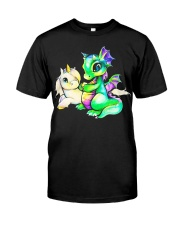 Baby Unicorn and Baby Dragon Classic T-Shirt front