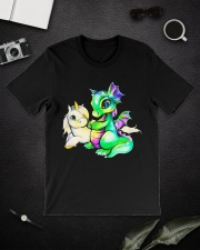 Baby Unicorn and Baby Dragon Classic T-Shirt lifestyle-mens-crewneck-front-16