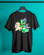 Baby Unicorn and Baby Dragon Classic T-Shirt lifestyle-mens-crewneck-front-3