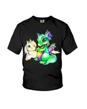 Baby Unicorn and Baby Dragon Youth T-Shirt thumbnail