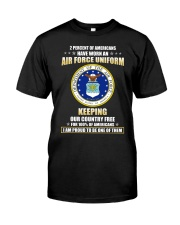 2 percent of Americans have worn an air force  Classic T-Shirt front