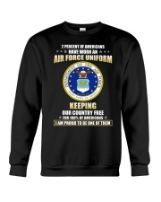 2 percent of Americans have worn an air force  Crewneck Sweatshirt thumbnail