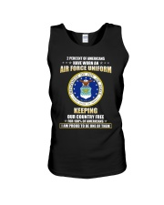 2 percent of Americans have worn an air force  Unisex Tank thumbnail