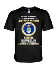 2 percent of Americans have worn an air force  V-Neck T-Shirt thumbnail