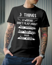 3 things a woman don't play about her money Classic T-Shirt lifestyle-mens-crewneck-front-6
