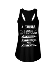 3 things a woman don't play about her money Ladies Flowy Tank thumbnail
