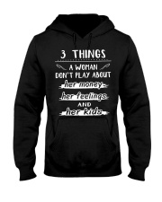 3 things a woman don't play about her money Hooded Sweatshirt thumbnail