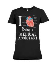 I being a medical assistant  Premium Fit Ladies Tee thumbnail
