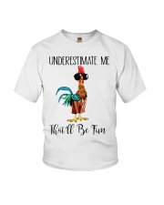 Chicken underestimate me that'll be fun  Youth T-Shirt thumbnail