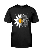 Sunflower I became a social worker Premium Fit Mens Tee front