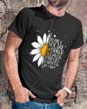 Sunflower I became a social worker Premium Fit Mens Tee lifestyle-mens-crewneck-front-4
