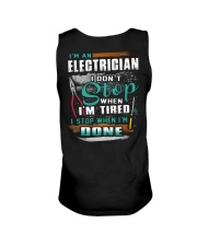 I'm an electrician I don't stop when I'm tired Unisex Tank thumbnail