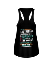 I'm an electrician I don't stop when I'm tired Ladies Flowy Tank thumbnail