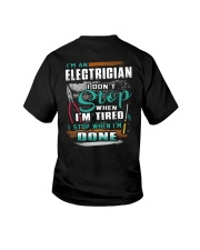 I'm an electrician I don't stop when I'm tired Youth T-Shirt thumbnail