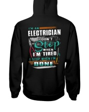 I'm an electrician I don't stop when I'm tired Hooded Sweatshirt thumbnail