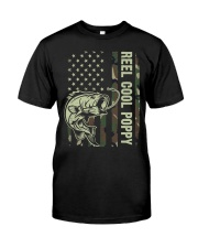 Reel cool poppy 4th july usa flag fishing Classic T-Shirt front
