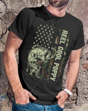 Reel cool poppy 4th july usa flag fishing Classic T-Shirt lifestyle-mens-crewneck-front-4