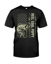 Reel cool poppy 4th july usa flag fishing Premium Fit Mens Tee thumbnail