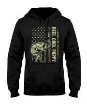 Reel cool poppy 4th july usa flag fishing Hooded Sweatshirt thumbnail