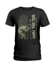 Reel cool poppy 4th july usa flag fishing Ladies T-Shirt thumbnail