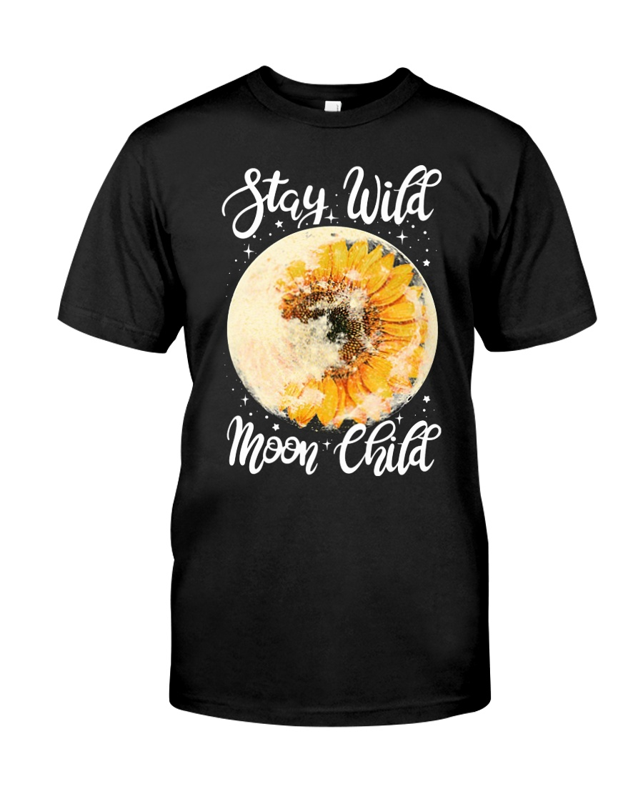 Sunflower stay wild moon child Premium Fit Mens Tee