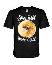 Sunflower stay wild moon child V-Neck T-Shirt thumbnail