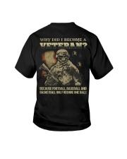Why did i become a veteran because football baseba Youth T-Shirt thumbnail
