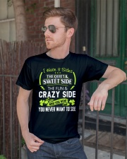 I have 3 slides the quiet and sweet side Classic T-Shirt lifestyle-mens-crewneck-front-2