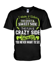 I have 3 slides the quiet and sweet side V-Neck T-Shirt thumbnail