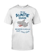 I'm an auntie shark who happens to cuss a lot  Premium Fit Mens Tee thumbnail