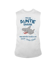 I'm an auntie shark who happens to cuss a lot  Sleeveless Tee tile