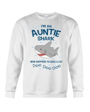 I'm an auntie shark who happens to cuss a lot  Crewneck Sweatshirt thumbnail