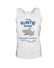 I'm an auntie shark who happens to cuss a lot  Unisex Tank thumbnail